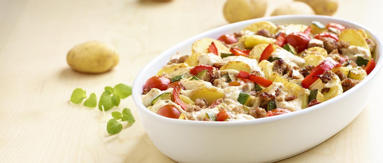 Aardappel Anders - Gehaktschotel met paprika en courgette