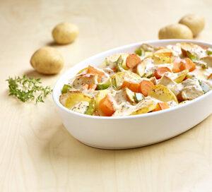 Aardappel Anders - Kipschotel met pompoen en wortel
